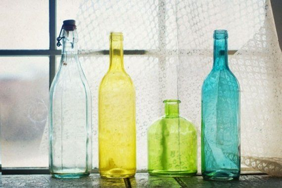old glass bottles