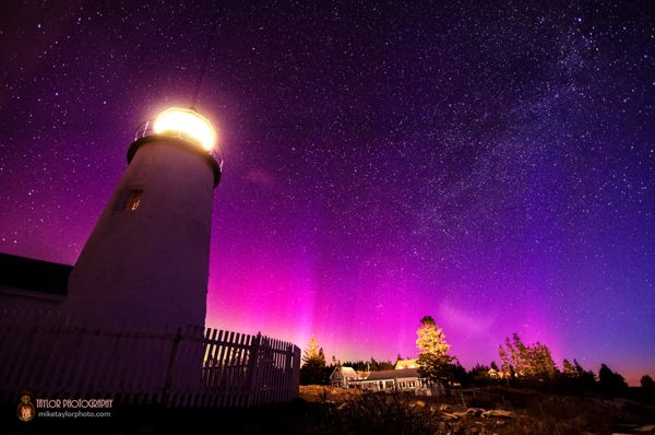 Northern Lights & Milky Way at Pemaquid