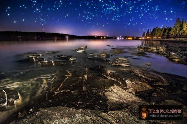 Rocks & stars at Marshall Pt