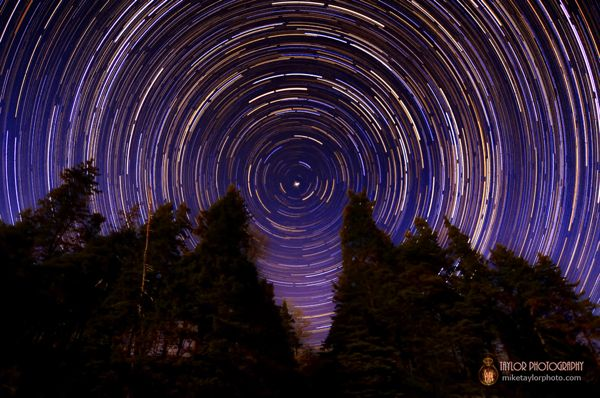 Sand Beach Star Trail