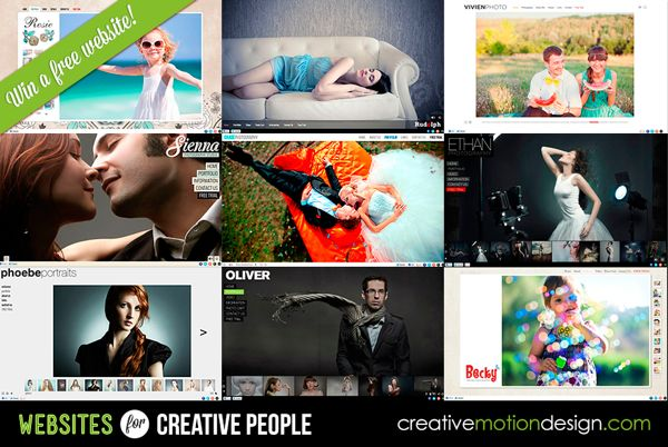Win A Photographer Website Package from Creative Motion Design (Winner Announced)