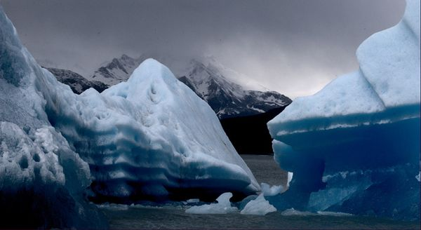 Argentina mountains ocean ice