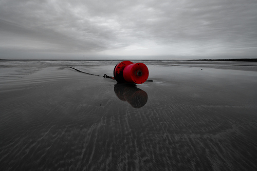 red buoy stranded