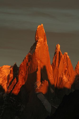 Argentina Cerro Torre at sunrise