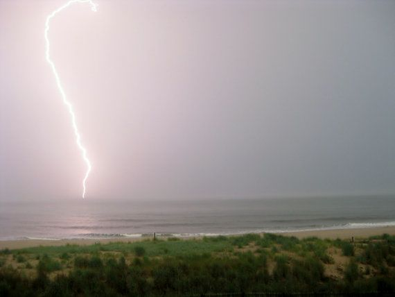 Lightning Bolt over the Ocean