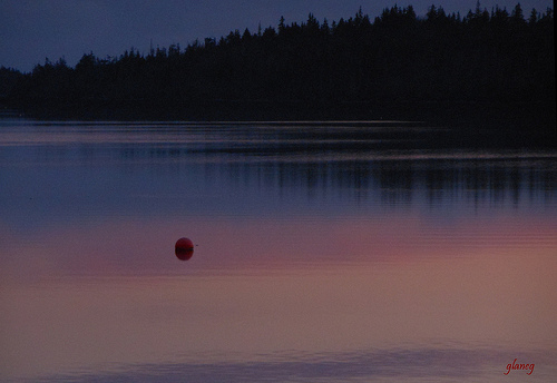 buoy at dawn