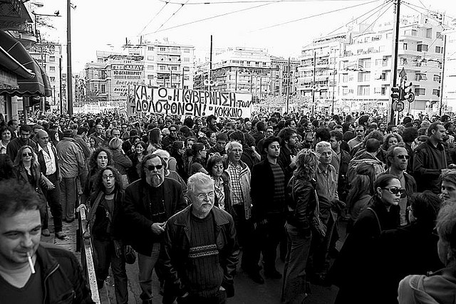 Street protest Greece