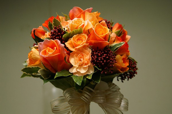 Bouquet of Orange Roses by kannon