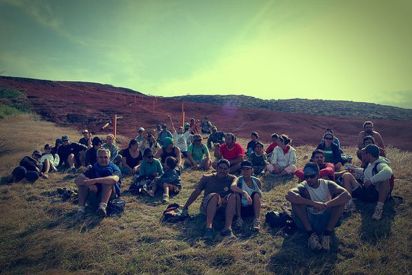 Kaho'olawe restoration group sitting