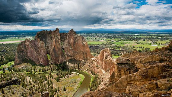View of Smith Rock State Park near Terrebonne, Oregon