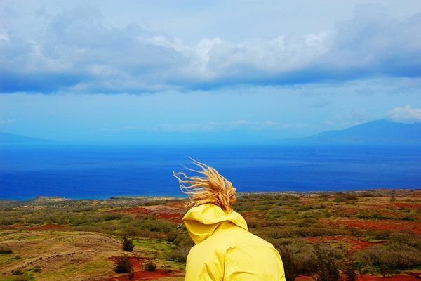 Kaho'olawe girl yellow coat