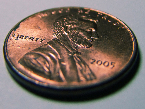 Coin Macro Shot by Aaron Escobar penny pennies