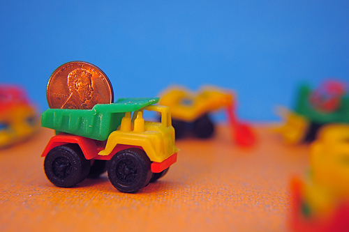 1976 Little Construction Vehicles by JD Hancock penny pennies