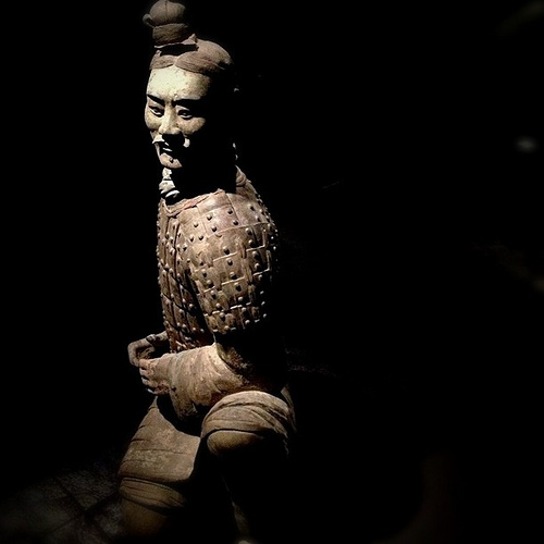 Kneeling Archer Terracotta Warrior, 221-206 BCE by Rachel