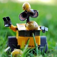 Cute Portraits of WALL-E the Robot by Meddy Garnet