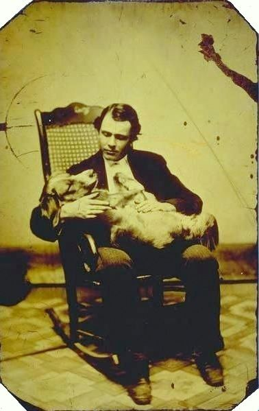 Any Daguerreotype BF worth his salt loves his dog.  ca. 1860-80's, E.A. Scholfield