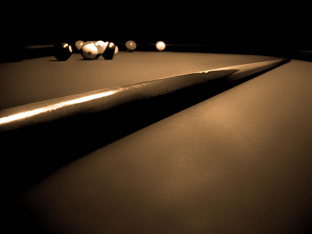 pool billiards cue