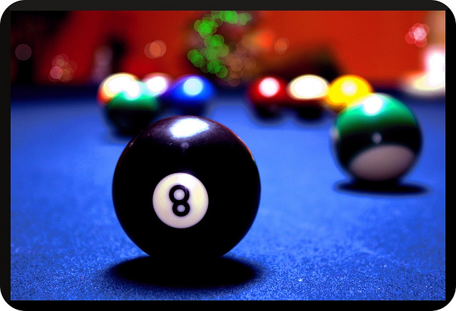 pool billiards ball eight