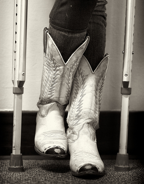 Cowboy Boots & Crutches by PhotoAtelier