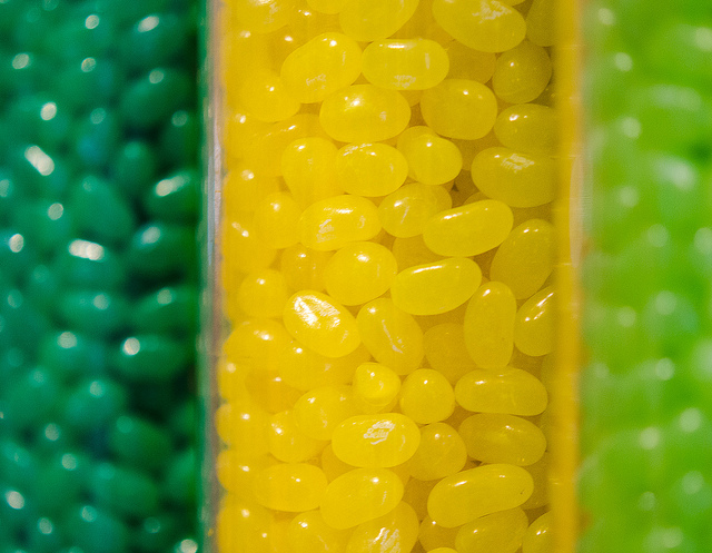 Yellow and Green Jelly Beans by Robert Neff
