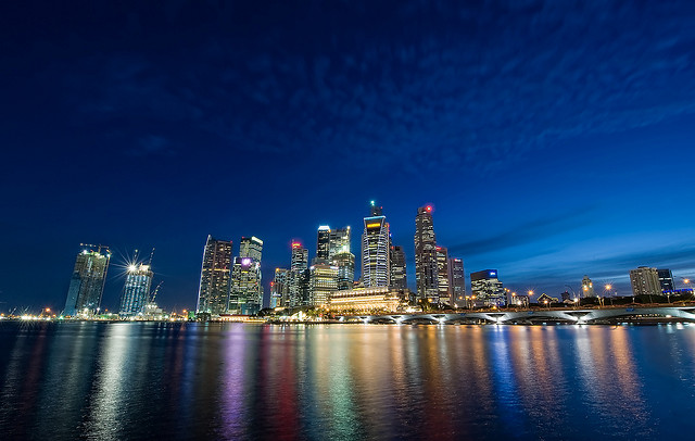 Singapore Skyline - Blue Hour