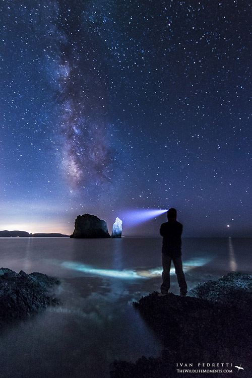 Milky Way beach in Italy