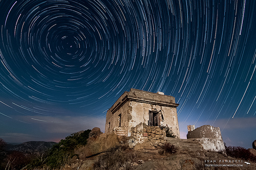 Star trails in Italy