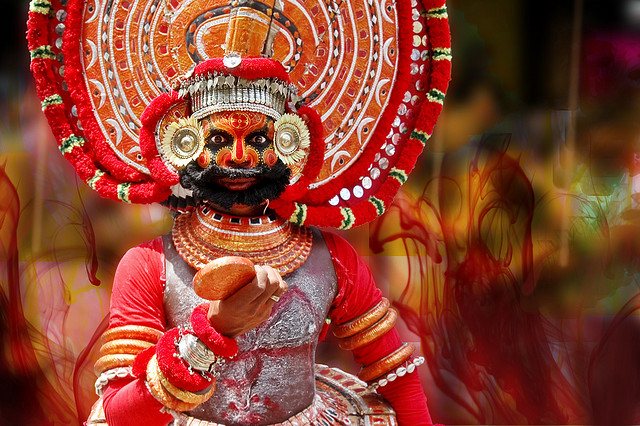 Anoop Negi India Theyyam at Onam Attahchamyam in Kerala