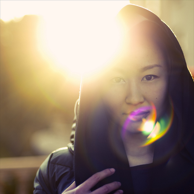 Lens Flare Woman