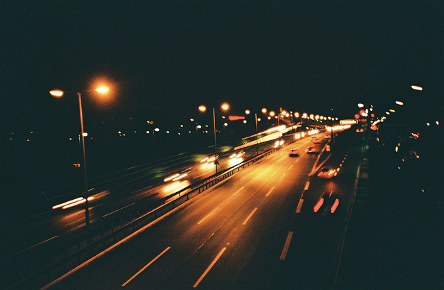Mika Kuusela Autobahn at night