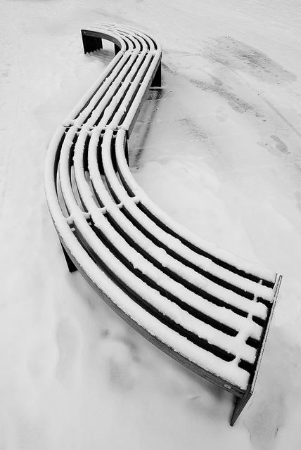 Minimal Winter  Bench