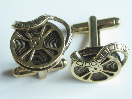 film reel 24k gold cufflinks