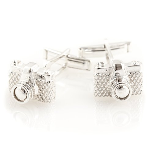 Solid Sterling Silver Camera Cufflinks