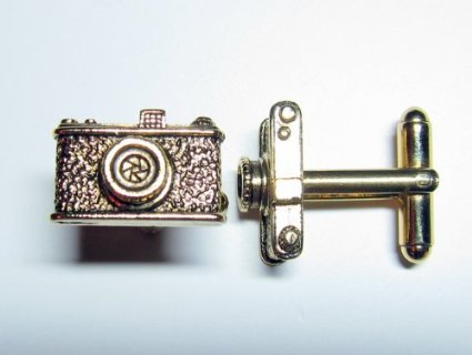 Gold Camera Cufflinks By Classic Cufflinks