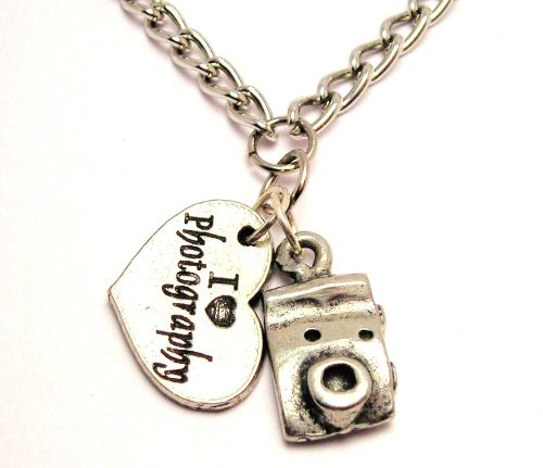 necklace on etsy chain photography charm initial filled camera il fvif market gold