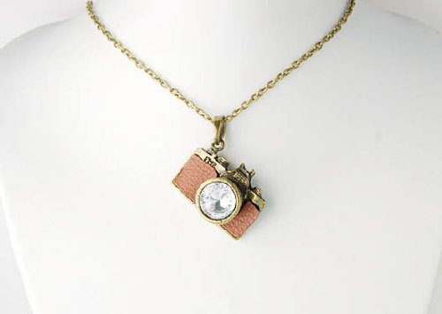 15 ideas for camera necklace jewelry gifts vintage like clear crystal rhinestones retro inspired camera pendant necklace mozeypictures Image collections
