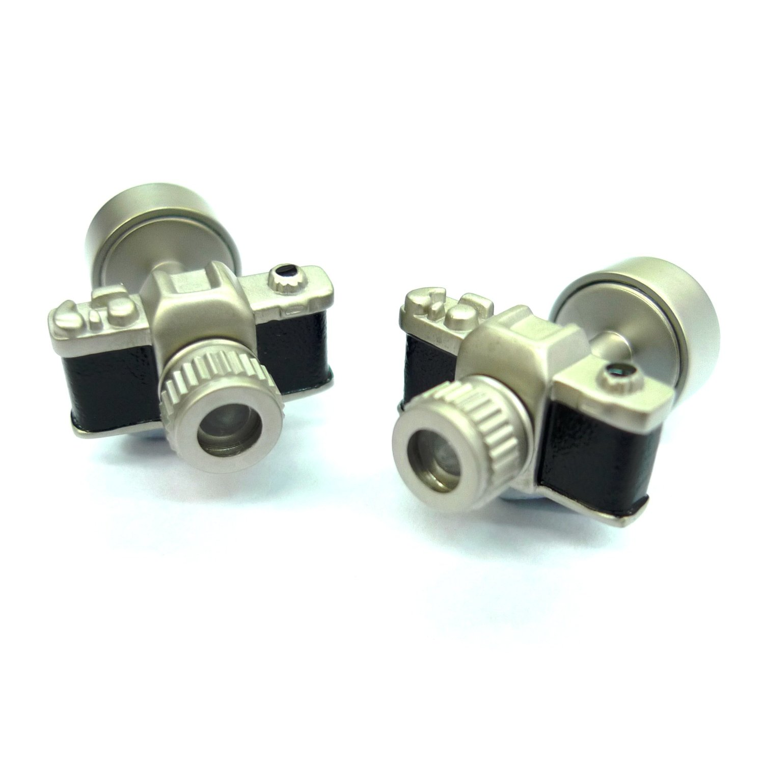 Tailor B 3D LED Light Camera Cufflinks with White Light Photography Press it, it lights up!
