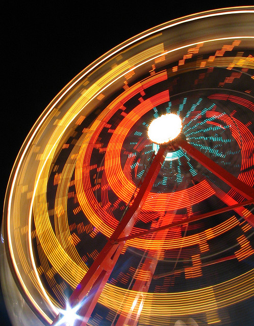Ferris Wheel Blurred Motion