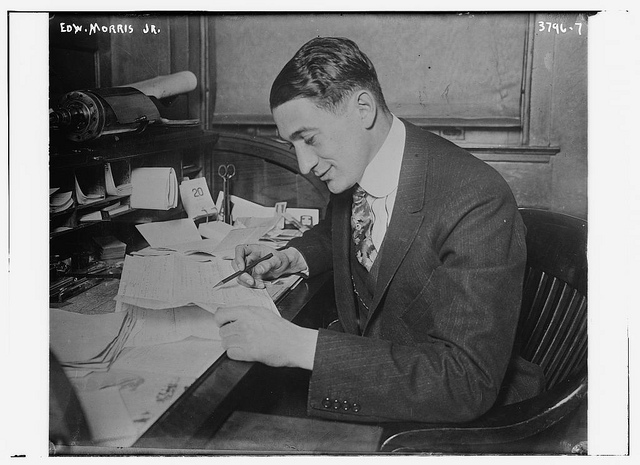 Edw. Morris Jr. writing letter write
