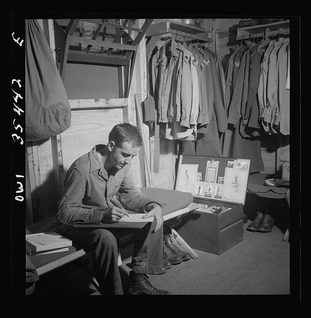 Greenville, South Carolina. Air Service Command. Writing a letter home write