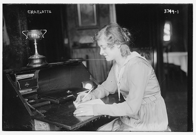 Charlotte (LOC) writing letter write