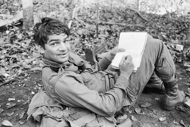 Gunner Ernie Widders writes a letter from Vietnam writing