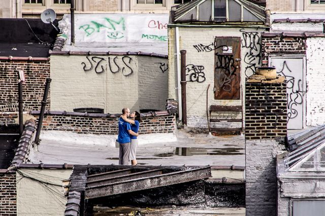 Rooftop Embrace