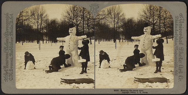 Making the snow-man snowmen
