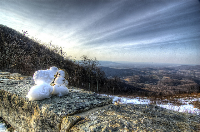 Snowman Love at Shenandoah National Park snowmen