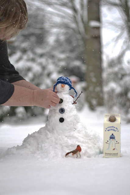 It's cold outside. Even with an Innocent smoothie! snowman snowmen