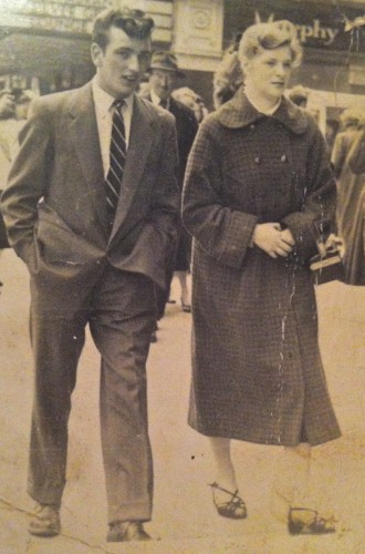 1955 My Mam and Dad when they were courting Nuala Lawlor age 18 and Augustine Berrigan age 20 David Berrigan