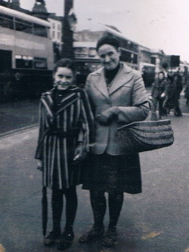 1973 Margaret Coffey and my daughter Liz aged 9 on one of our treasured trips to Dublin These trips included tea and buns in Bewleys and a quick prayer in Clarendon St Church Fond memories