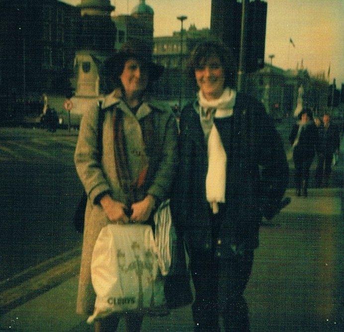 1983 Margaret Coffey and daughter Liz on another shopping trip to Dublin 10 years later