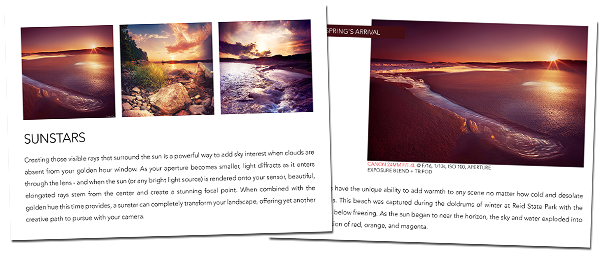 Golden Hour eBook includes how to create sunstars